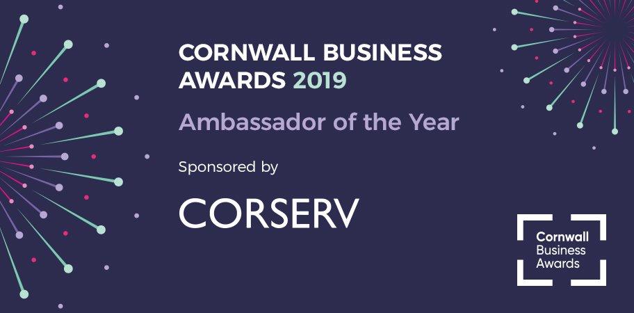 Cornwall business awards ambassador of the year award