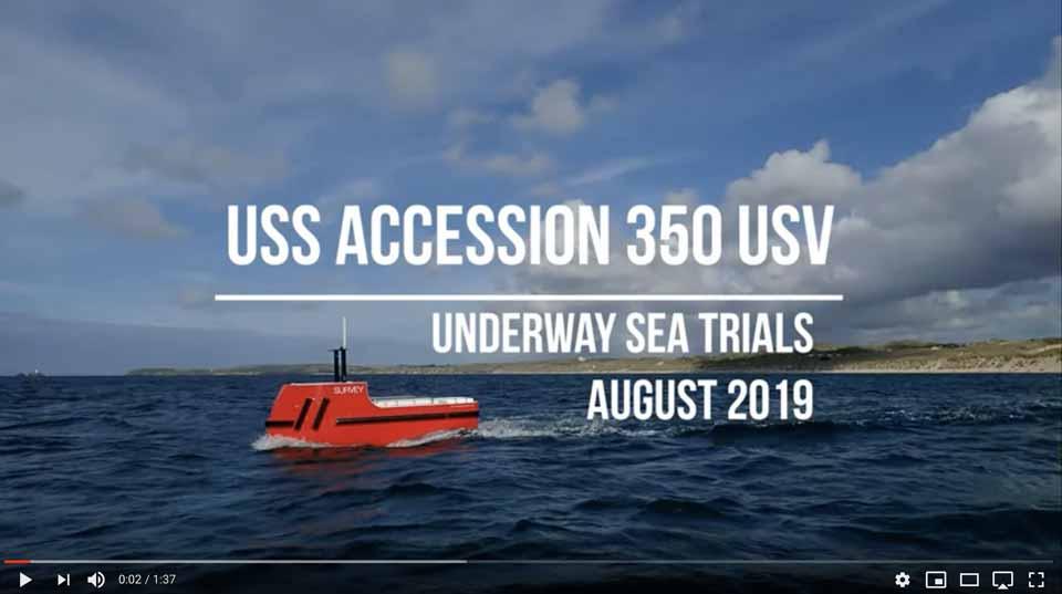 Accession's sea trials in moderate seas.