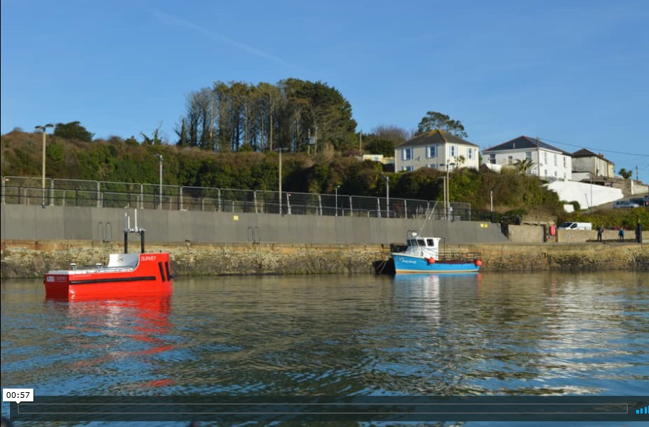 USS Accession USV Hydrographic Survey of Hayle Harbour, Cornwall UK